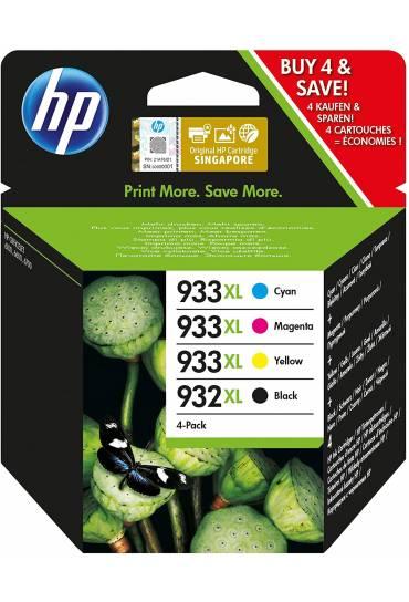 Cartucho HP Nº932XL + Nº933XL multipack 4 colores C2P42AE