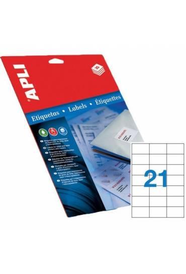 Etiquetas 70x42,4 caja 100 hojas Apli 1276