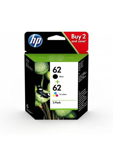 Cartucho HP Nº62 tricolor Pack 2 unidades N9J71AE