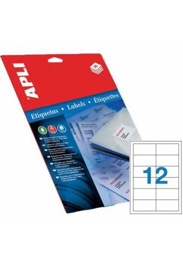 Etiquetas 97x42,4 caja 100 hojas Apli 1288