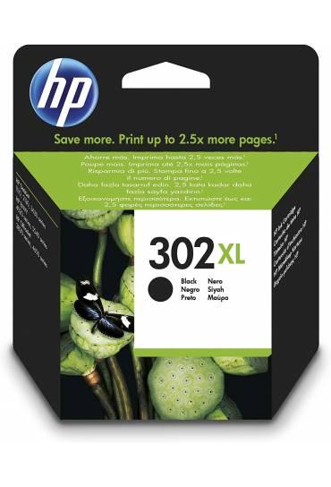 Cartucho HP Nº302XL alta capacidad negro F6U68AE