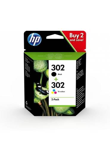 Cartucho HP Nº302 Pack tricolor+negro X4D37AE