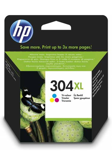 Cartucho HP Nº304XL tricolor alta capacidad N9K07AE