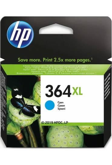 Cartucho HP Nº364XL cyan alta capacidad CB323EE