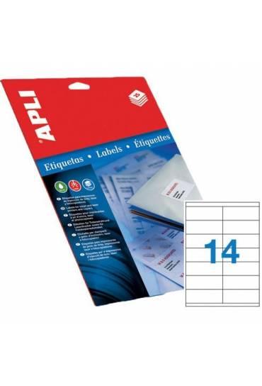Etiquetas 105x42,4 caja 100 hojas Apli 1277