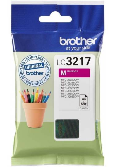 Cartucho tinta Brother MFC J6530DW magenta LC3217M