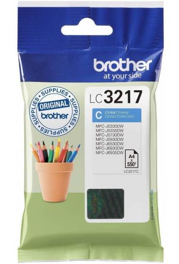 Cartucho tinta Brother MFC J6530DW cyan LC3217C