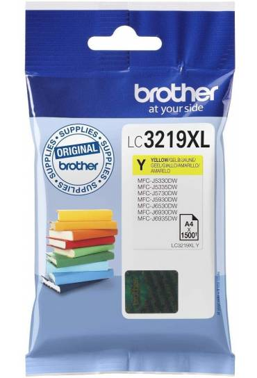 Cartucho tinta Brother MFC J6530DW amarillo LC3219XLY