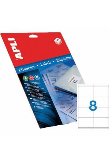Etiquetas 105x74 caja 100 hojas Apli 1279