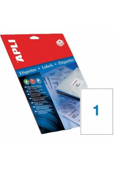 Etiquetas 210x297 caja 100 hojas Apli 1281