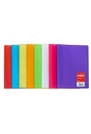 Carpeta 20 fundas poliplas pp translucido lila
