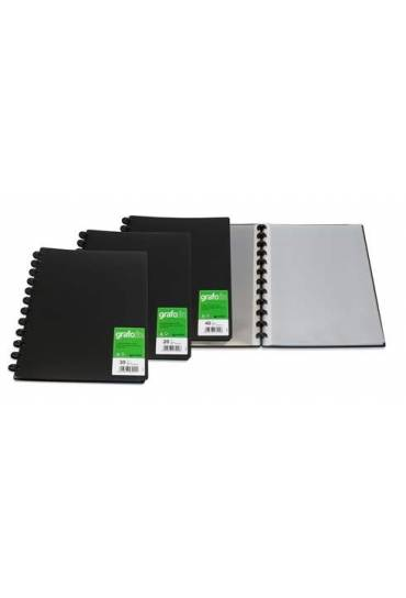 Carpeta 30 fundas A4 PP Grafo In negra Grafoplas