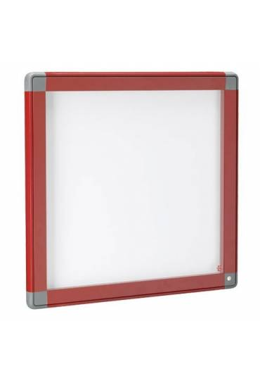 Vitrina exterior JMB puerta cristal 71x74 roja