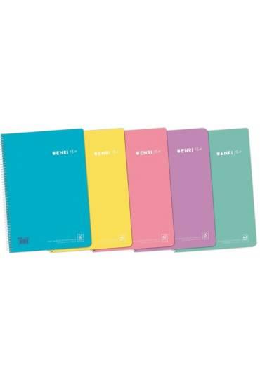 Cuaderno Enri folio 80h 90gr 4x4 PP colores pastel