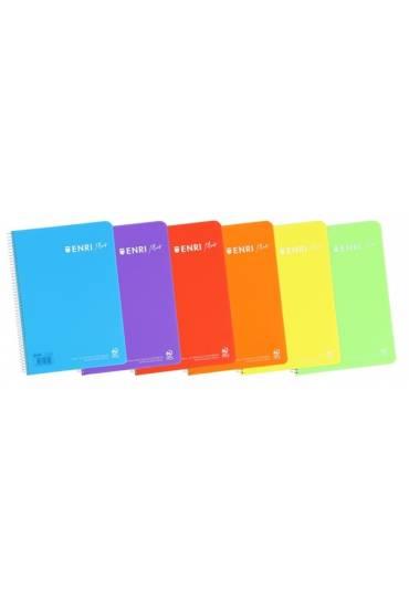 Cuaderno Enri folio 80h 90gr 4x4 PP colores vivos