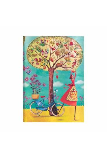 Cuaderno Paperblanks Manzanas  otoño rallado Midi