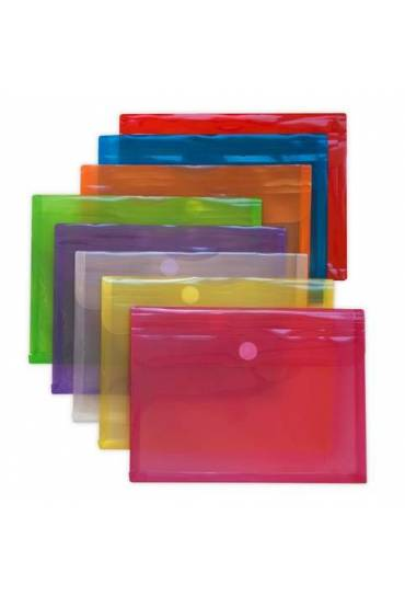 Sobres polipropileno fuelle folio azul 5 unidades