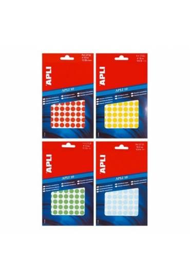 Bolsa 315 etiquetas redondas 10mm verde Apli 02054
