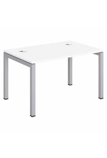 Mesa Arco 120 blanca patas aluminio