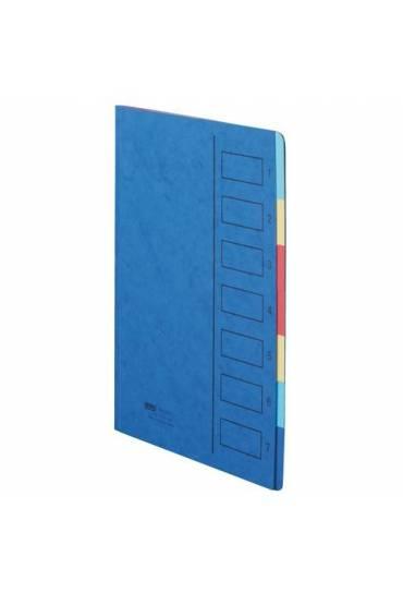 Clasificador 7 divisiones azul cartulina