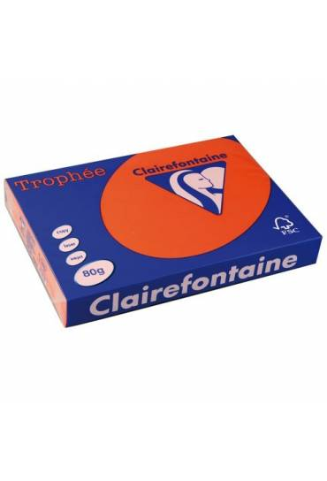 Papel Clairefontaine A3 80 g naranja 500 hojas