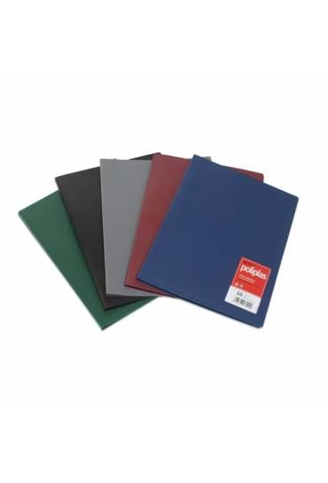 Carpeta 20 fundas A4 poliplas Grafoplas azul