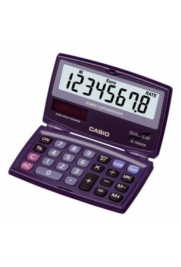 Calculadora SL-100 VER solar Casio 8 dígitos