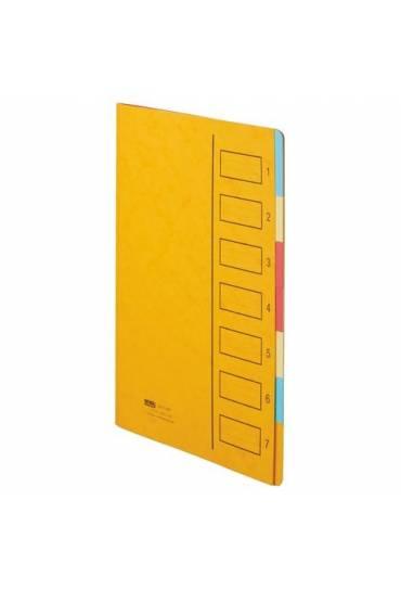 Clasificador 7 divisiones  amarillo cartulina