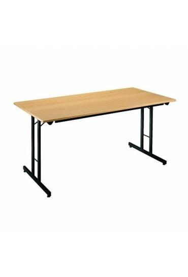 Mesa plegable multiusos 160 x 80  Haya patas negra