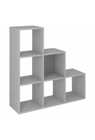 Estructura Maxicubo 6 casillas escalera gris