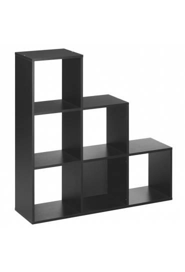 Estanteria 6 casillas negro