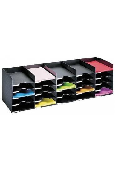 Modulo Organizador 112cm 25 casillas Negro