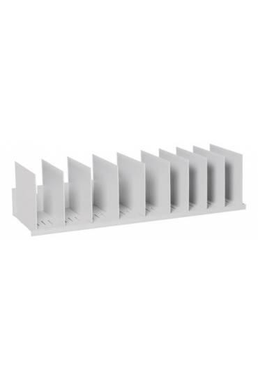 Organizador vertical 92cm 12 separadores gris