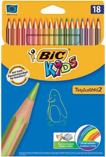 Caja 18 lapices colores Bic Kids Tropicolors 2