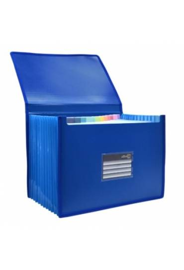 Clasificador extensible PP cierre gomas azul