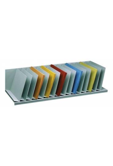 Organizador Vertical 112cm 12 separadores gris