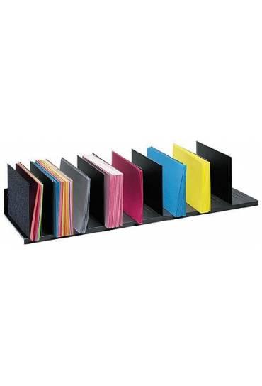 Organizador  Vertical 112cm 12 separadores negro