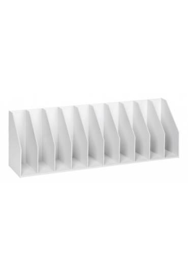 Organizador Vertical  90cm 10 separadores Gris