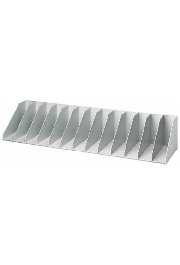 Organizador Vertical 112 cm 13 separadores Gris