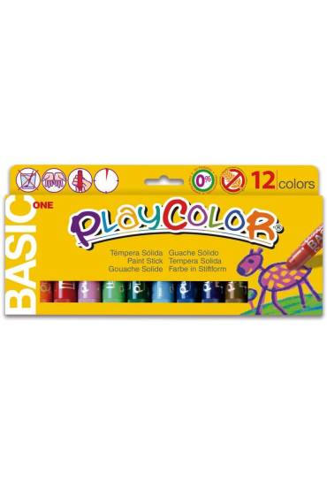 Tempera solida Playcolor standar one 12 colores