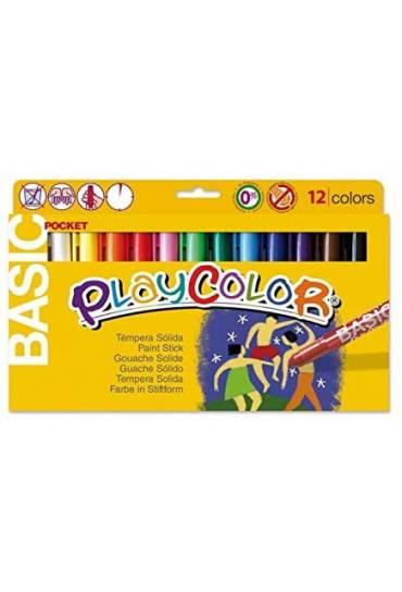 Tempera solida Playcolor standar Pocket 12 colores