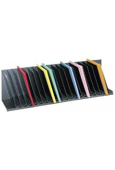 Organizador Oblicuo 112cm 20 casilleros Negro