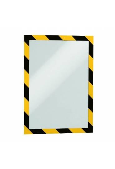 Fundas adhesivas A4 Security amarillo/negro 2 unid