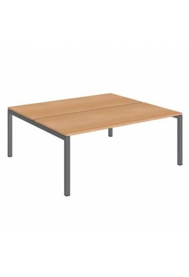 Conjunto 2 mesas 180 haya antracita arko