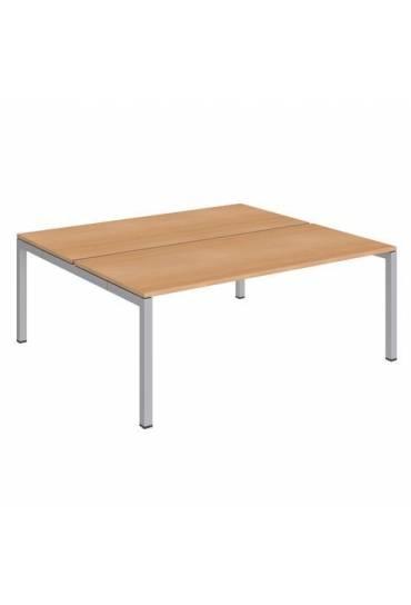 Conjunto 2 mesas 180 haya aluminio arko