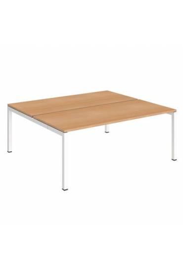 Conjunto 2 mesas 180 haya blanco arko