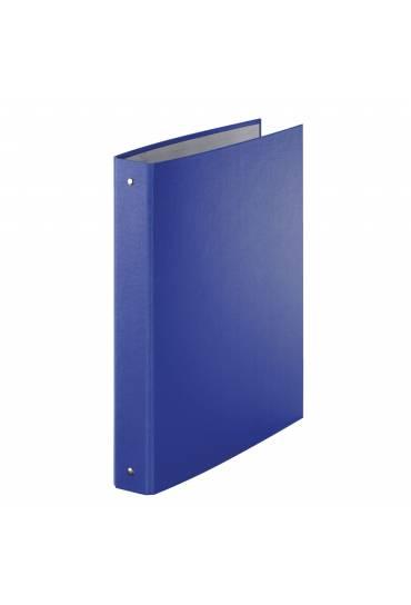 Carpeta 4 anillas 30mm A4 forrada PP azul