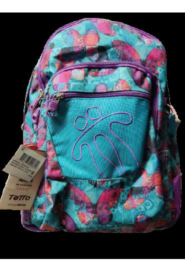 Mochila escolar Totto crayola azul mariposas