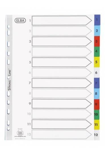 Separador Polipropileno 1-12 A4 colores 120micras