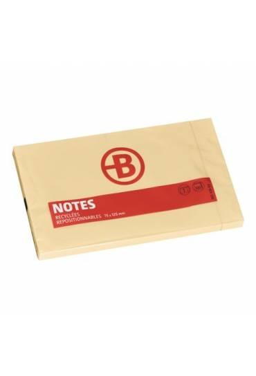 Bloc notas reciclado 125 x 75 JMB amarillo